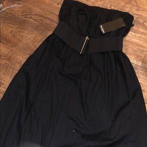 Strapless Black Dress NWT